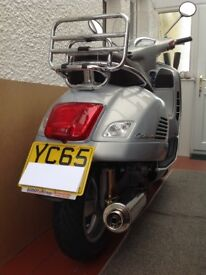 Piaggio Vespa GTS 300 Touring, 2015/65, One Owner, 69 Miles, P. M. Exhaust, Excellent Condition.