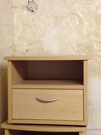 Oak bedside tables (x2)