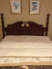Hi gloss Italian wood headboard