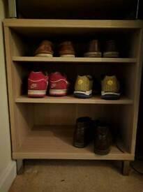 Birch veneer shelf units