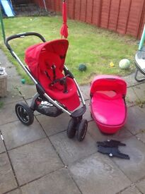Maxi cosi Mura pushchair and carrycot ( will sell separate)