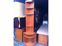 Tall unusual Corner display unit