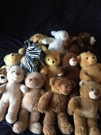 Build a bear and bear factory bears for sale £2 each or can make an offer for more than one.