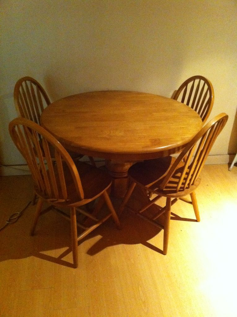 Solid Oak Dining Table in Leeds City Centre West  : 86 from www.gumtree.com size 765 x 1024 jpeg 110kB
