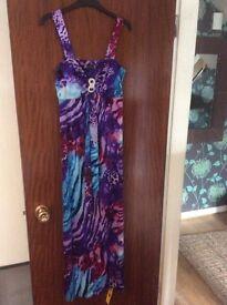 Purple blue dress