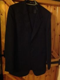 Men's Navy Pinstripe suit by Dunn & Co