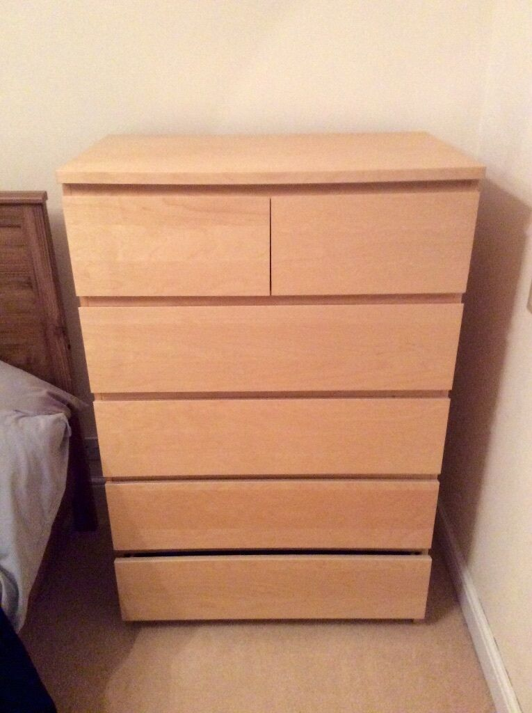 ikea malm 6 drawer chest of drawers in bonnyrigg midlothian gumtree. Black Bedroom Furniture Sets. Home Design Ideas