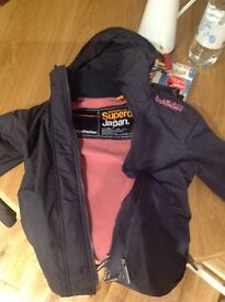 Ladies Superdry Windcheater Jacket (pink) - Small