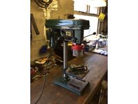 Bench Pillar Drill with vice