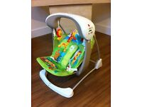 Fisher price forest swing/vibrating chair