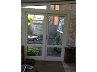 Conservatory uvpc double glazed doors.