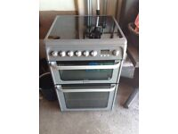 Free standing 60cm Hotpoint electric Cooker. Ceramic hob and double oven, grill excellent condition
