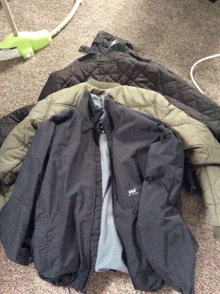 Gents winter jackets x4