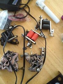 full tattoo kit 2 guns peddle ink etc included
