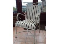 Beautiful white/shabby chic antique metal chair