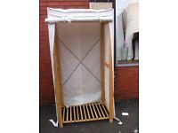 Fabric wardrobe/ clothes rail