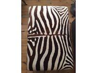 Zebra Print Ottoman/Footstool Custom Made