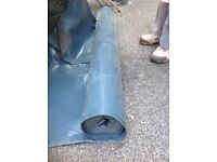 DPMC damp proof membrane plastic sheet 4 meters wide approx half a roll