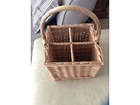 Wicker bottle basket .