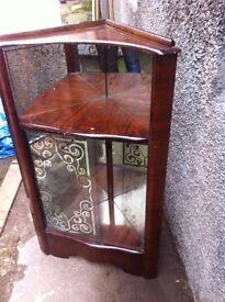Rare Antique corner display cabinet