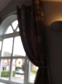 Modern long wide curtains