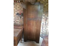 Assorted furniture - wardrobe, writing bureau, office desk, dining-room table, chairs