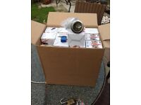 JOB LOT OF 48 fire and acoustic and moisture rated GU10 downlights brand new boxed
