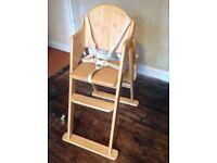 High chair -East coast wood natural