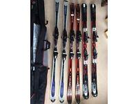 3 sets adult skis