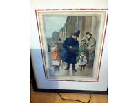 """Nice 19th century coloured print called """"Lost in London"""" by T.W Couldery."""
