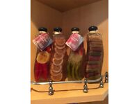 Kitchen decorative preserve bottles x4