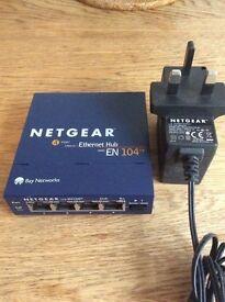 Netgear EN104TP UK 4 Port 10Base-T Ethernet Network Hub