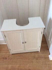 White under sink storage cupboard