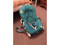 Chicco baby bouncer in good condition with vibrating function and sounds