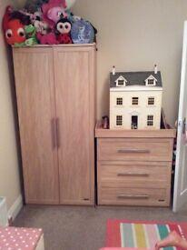 Mamas and papas nursery wardrobe and drawers