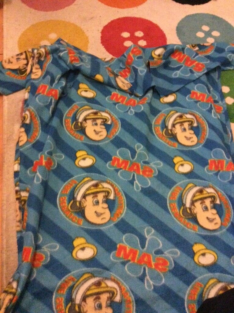 Fireman Sam blanket with sleeves