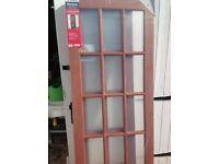 Mahogany glass door