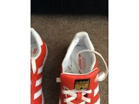 Adidas superstars trainers size 6