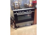 Kenwood range duel fuel cooker. Stainless steel top with five burners. In very good condition.