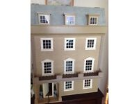 Victorian Wooden dolls house. 8 rooms, all fully decorated with electric lights. All furniture too!