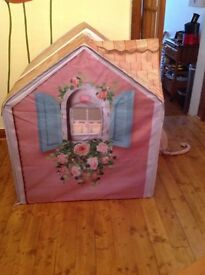 Rose petal cottage play house / tent with toy kitchen