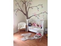 Tutti Bambini Katie cot/day/sleigh bed white for sale glasgow.