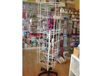 Floor Standing Retail Display Spinner - 96 hooks, used