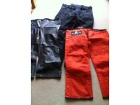 Akito desert motorbike grey trousers with separate thermal and waterproof lining.