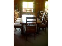 Barker and Stonehouse Flagstone dining table and chairs