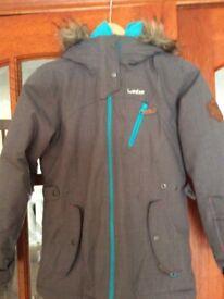 Winter ski jacket £10 oxylane .Fits 10 year old girl