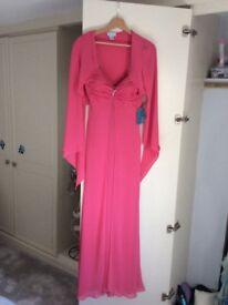 Ladies pink evening dress