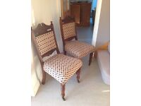 Period dining chairs