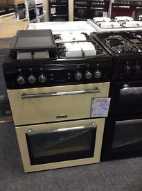Leisure gourmet gas cooker 60cm, double oven new 12 mths gtee