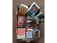 Big box of books and more. Most are Booker prize or similar. Popular authors. V good condition.